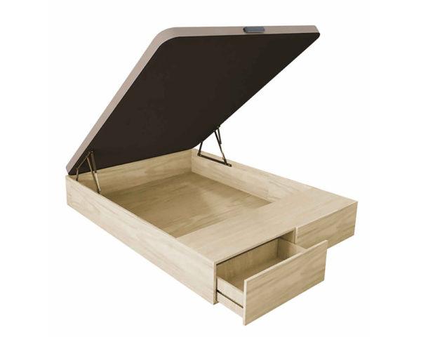Canapé de madera con cajones