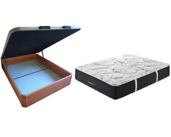 Canapé y colchón techno grafeno